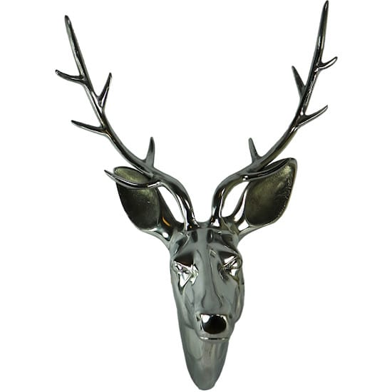 Head Deer  Colored   Aluminium 31x22x46cm Mars & More