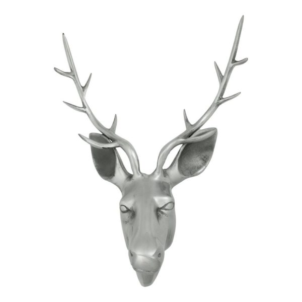Head Deer  Colored   Aluminium 45x30x65cm Mars & More