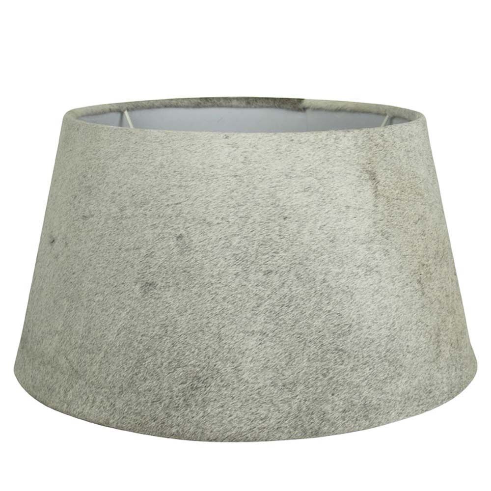 Lampshade Cow  Gray   Leather 30x40xh22