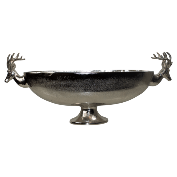Bowl Deer  Colored  Oval Aluminium 70x14x28cm Mars & More