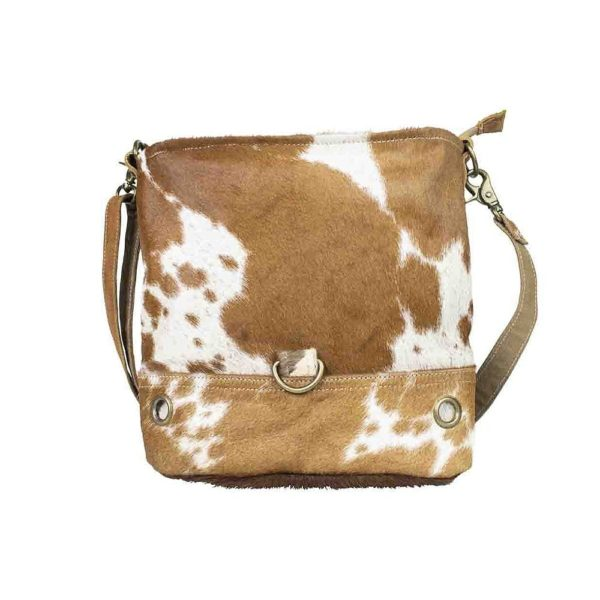 Bag Cow  Brown   Leather 35x27cm Mars & More