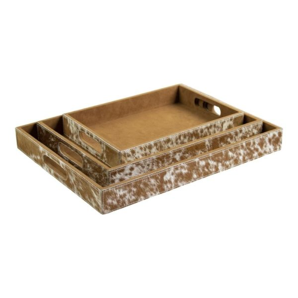 Serving tray Cow  Brown  Rectangle MDF 46x36
