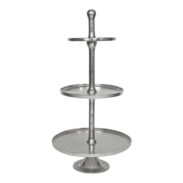 Serving stand   Colored  Round Aluminium 47x47x98cm Mars & More