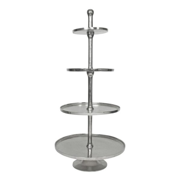 Serving stand   Colored  Round Aluminium 57x57x135cm Mars & More