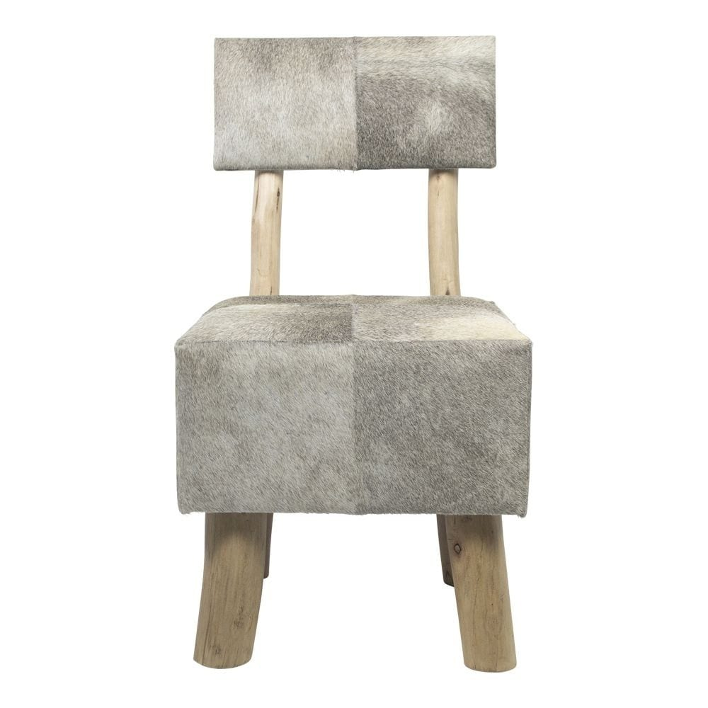 Stool Cow  Gray   Leather 45x45x86/45cm Mars & More