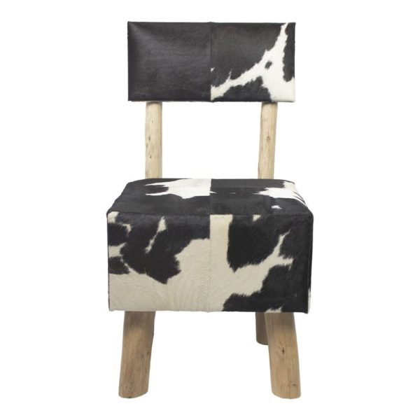 Stool Cow  Black   Leather 45x45x86/45cm Mars & More