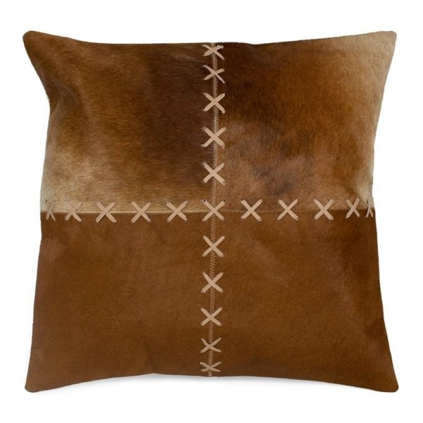 Cushion Cow  Brown   Cotton 45x45x15cm Mars & More