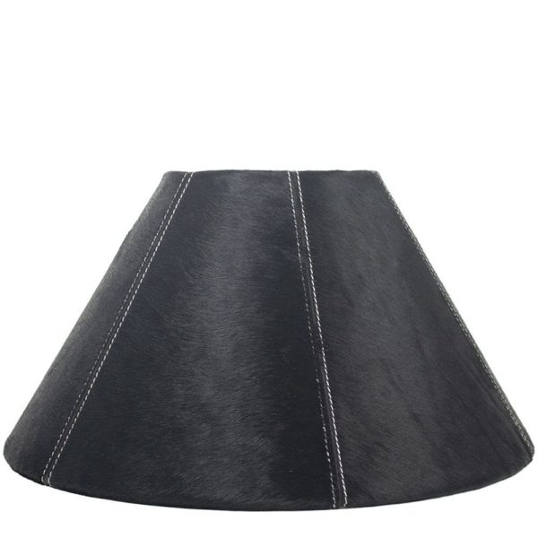 Lampshade Cow  Black   Natural 39x16x23cm Mars & More