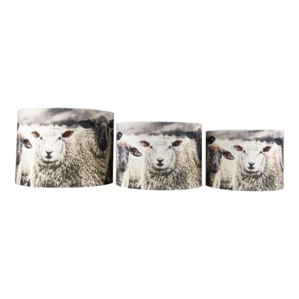 Lampshade Sheep  Colored   Velvet 35x35x25/30x30x19/25x25x15 Mars & More