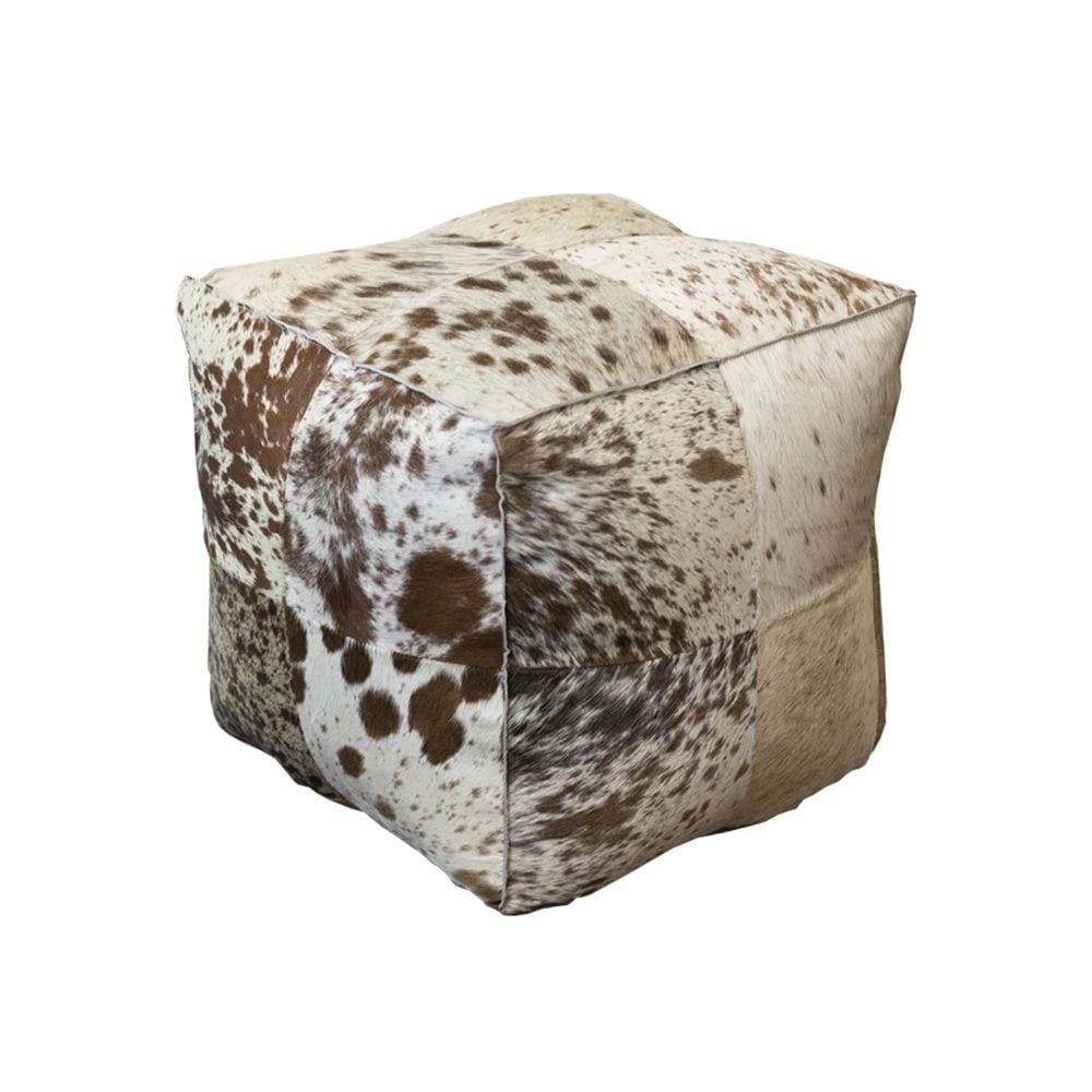 Pouffe Cow  Brown  Square Natural 40x40x40cm Mars & More