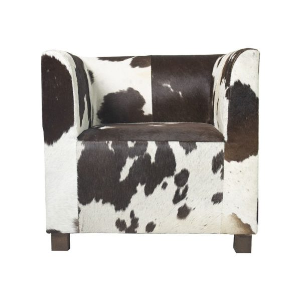 Chair Cow  Brown   Leather 76x68x73cm Mars & More