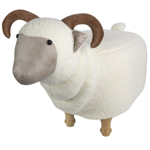Stool Sheep  Colored   Cotton 64x32x36cm Mars & More