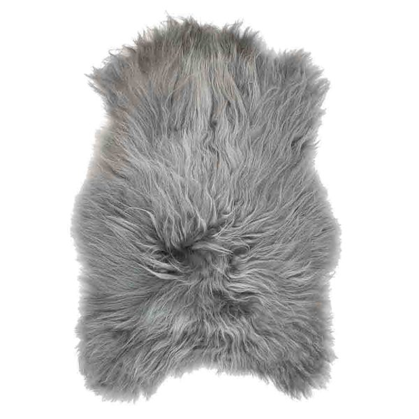 Fur  Iceland Gray   Leather / fur 115x75x5cm Mars & More