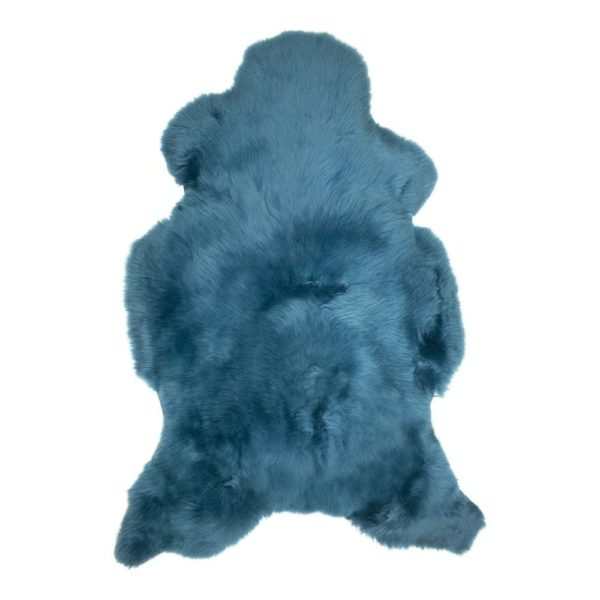 Fur  Iceland Petrol   Natural 115x75x5cm Mars & More