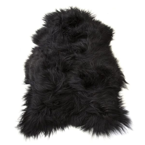 Fur  Iceland Black   Leather / fur 115x75x5cm Mars & More