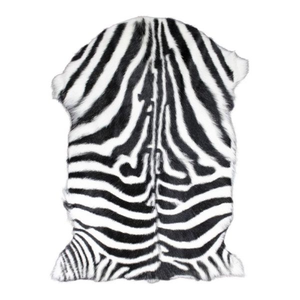 Fur Goat zebra  Colored   Natural 60x90x2cm Mars & More