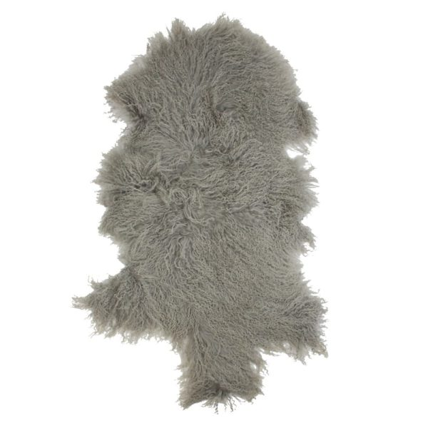 Fur   Gray   Leather / fur 95x55x2cm Mars & More