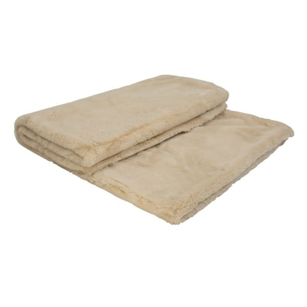 Throw   Beige   Polyester 220x240cm Mars & More