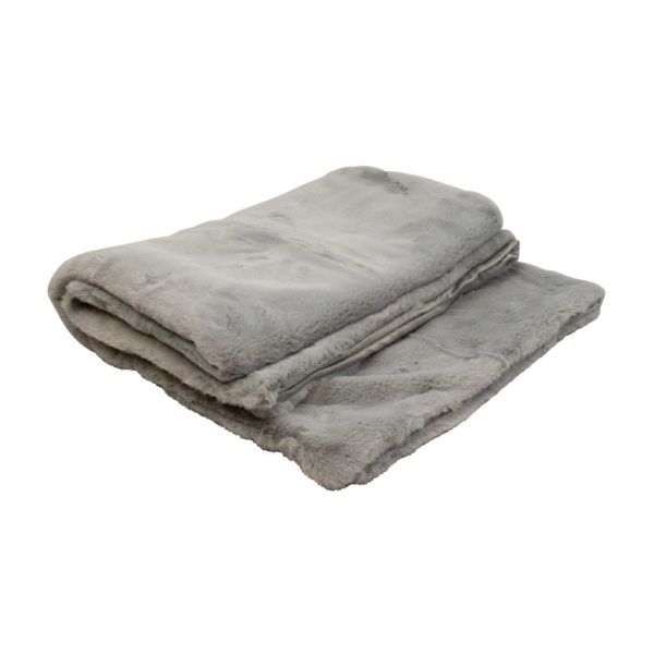 Throw   Gray   Polyester 130x170x1cm Mars & More