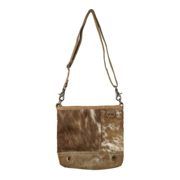 Bag Cow  Brown   Leather 26x24cm Mars & More