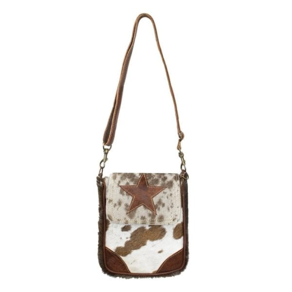 Bag Cow  Brown   Cotton 19x4x22cm Mars & More