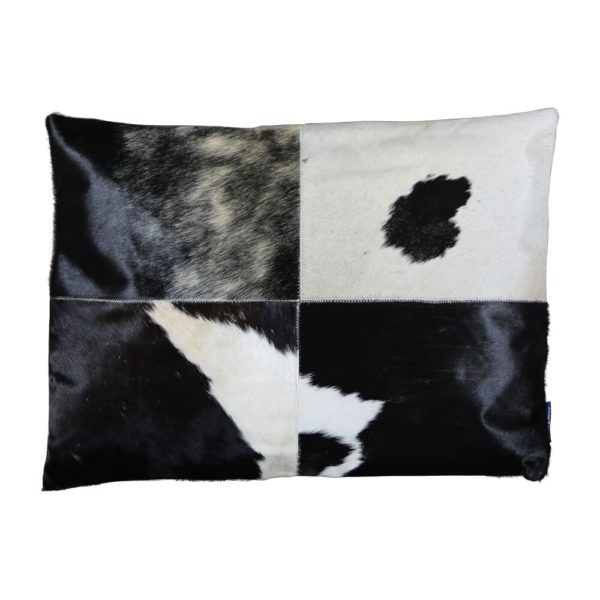 Cushion Cow  Black   Cotton 45x60x15cm Mars & More
