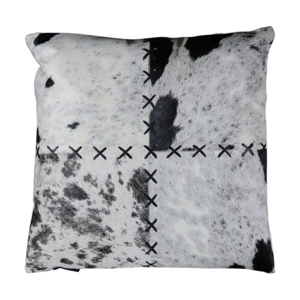 Cushion Cow  Black   Cotton 45x45x15cm Mars & More