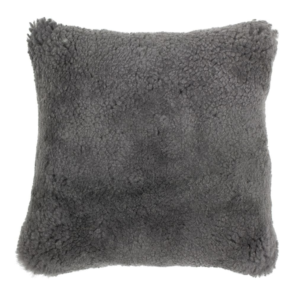 Cushion Sheep  Gray   Leather 40x40x15cm Mars & More