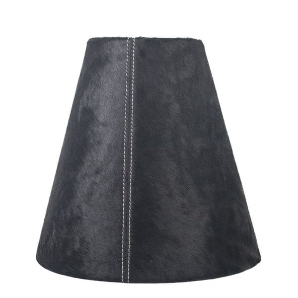 Lampshade Cow  Black   Natural 26x13x25cm Mars & More