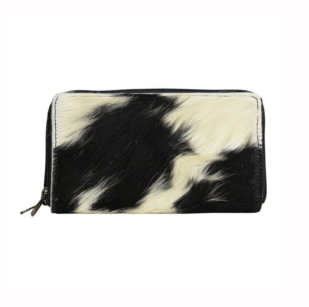 Wallet Cow  Black & White   Cotton 20x12x3
