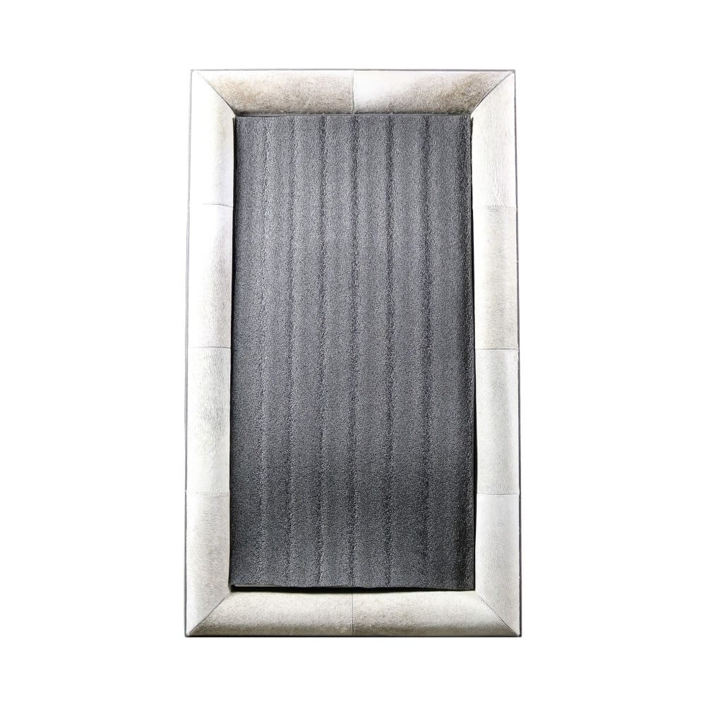 Mirror Cow  Gray  Rectangle Leather  Mars & More