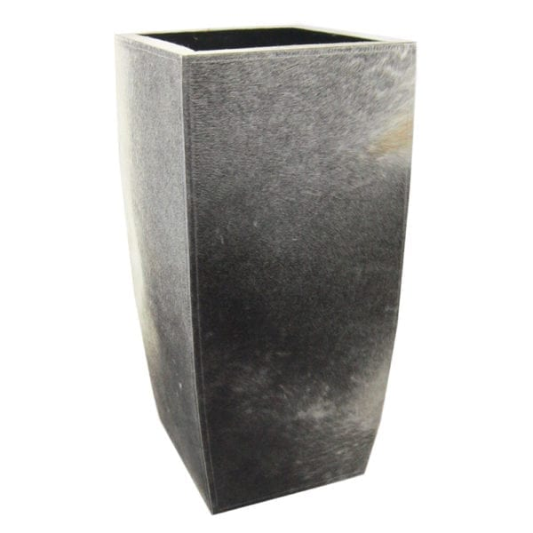 Planter Cow  Gray   Leather 35x35x75 Mars & More