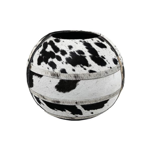 Vase Cow  Black  Round  35x35x35 Mars & More